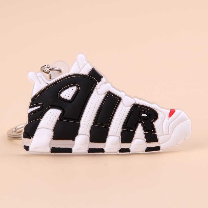 Móc Khóa Mini Silicone Không Giày Móc Khóa Người Phụ Nữ Nam Trẻ Em Tặng Móc Khóa Bóng Rổ Giày Sneaker Porte Clef