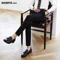 Brands BONSPOL 2016 Summer Metrosexual pants men slim pants  Korean suit pants business leisure trousers thin feet  Trousers