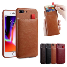 все цены на For iPhone X XR XS Max Luxury PU Leather Card Slots Stand Personalized Phone Case Slim Cover For iPhone 10 6 6S 8 7 Plus Coque онлайн