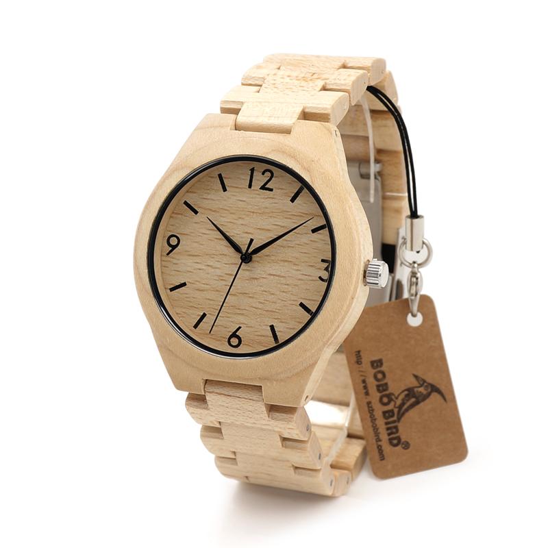 Prix pour BOBO BIRD Hommes En Bois Bracelet Montres Marque De Luxe De Mode Montre À Quartz-Montre Mens Montre En Bois Horloge Relojes Mujer Montre C-H01