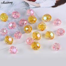 Korean Transparent Fashion Jewelry Beads DIY Accessory Hair Loop Pearl Straight Hole Fresh