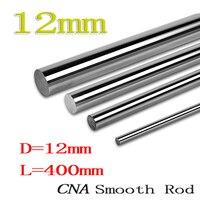 2pcs Lot 3D Printer Rod Shaft WCS 12mm Linear Shaft L 400 Mm Chrome Plated Linear