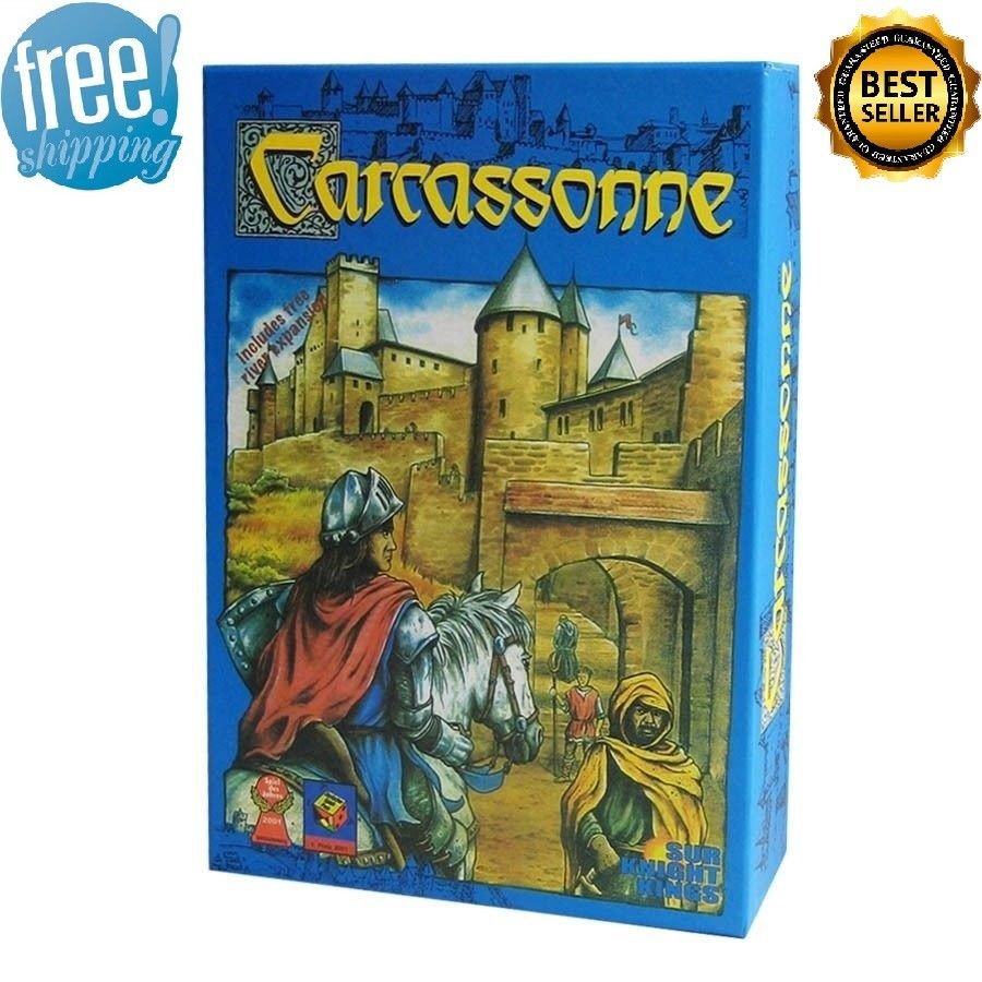 Carcassonne  Board Game 2-5 Players Cards Game For Party Family Friends Easy To Play With Free Shipping
