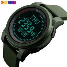 SKMEI Compass Men Outdoor Sports Watches World Time SummerTime Countdown Waterproof Digital Wristwatches Relogio Masculino 1289