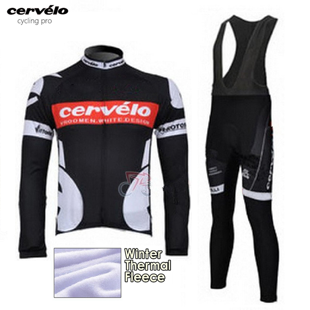760786cc1 Winter Cycling Clothing Thermal Fleece Cycling Kit Mens Cycling Jersey 2018  Pro Team Ropa Ciclismo Invierno