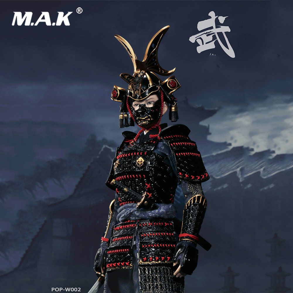 W002 1 6 Full Set Japanese Warrior The Butterfly Helmets Female Action Figure Deluxe Normal Version