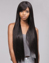 7a Unprocessed Virgin Brazilian Human Hair Lace Front Wigs Silky Straight Full Lace Wigs With side Bangs In Stock Free Shipping