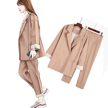 Women Pant suits suit female autumn new OL slim double-breas