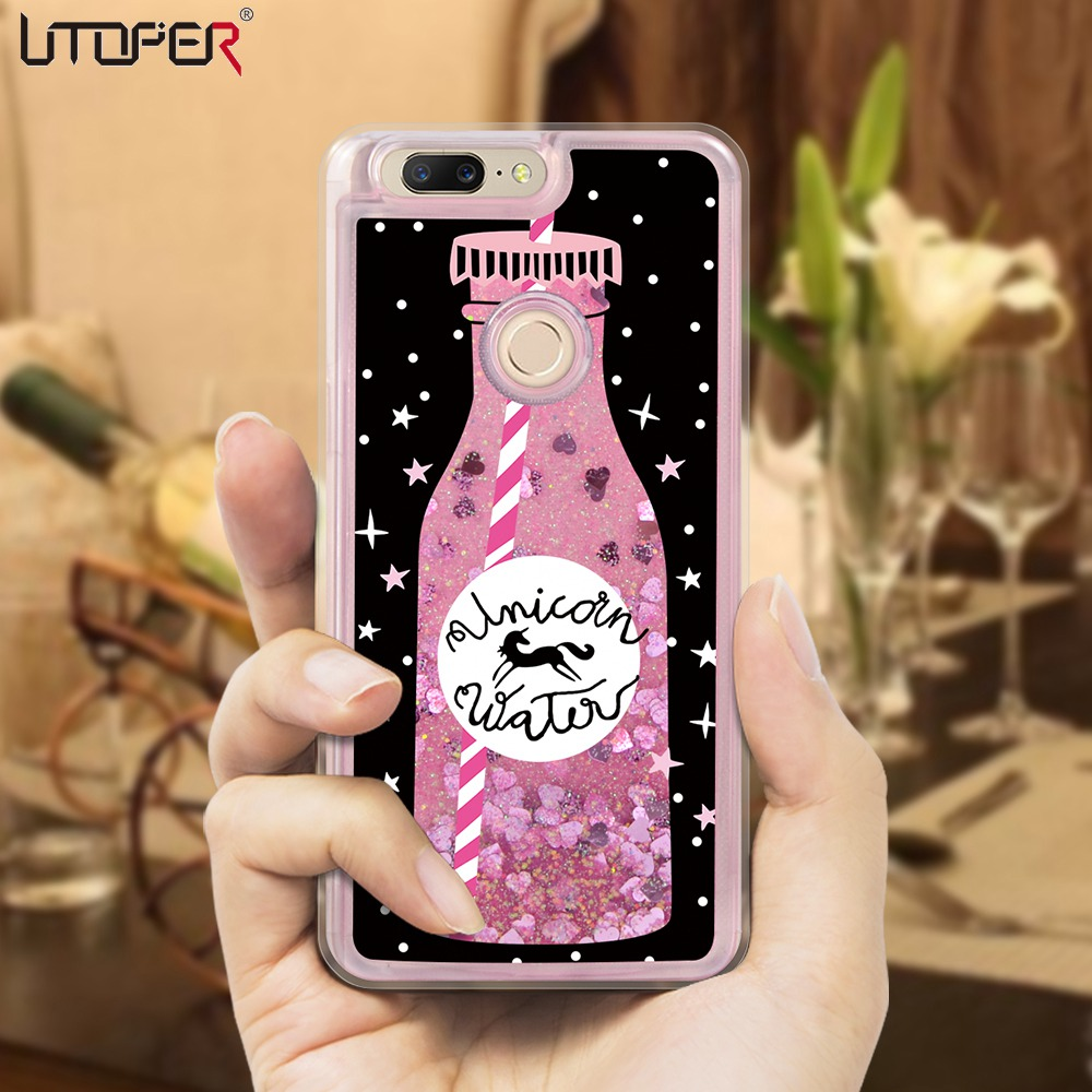 Luxury Liquid Quicksand Glitter Case For One Plus 5T Case Cover For OnePlus 5 Case Silicone Dynamic Shell For One Plus 5 T A5000