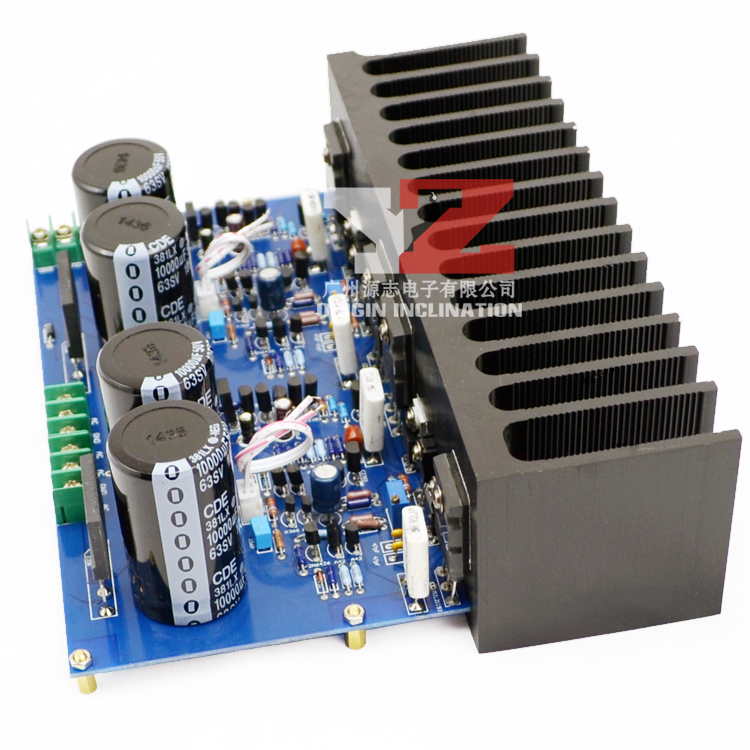 MT-150 150W AC 15V-36V Class A / AB Power Amplifier Board TTA1943 / TTC5200 A940 / C2073 203mm *103mm assembled mt 150 150w class a ab power amplifier board no heatsink