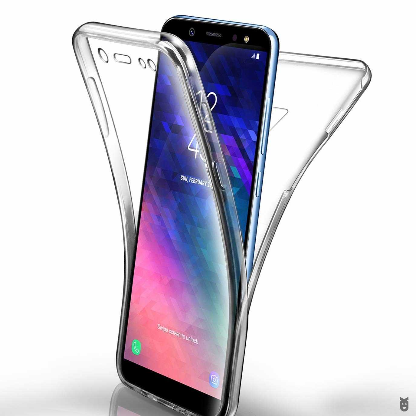 360 Degree Full Body Clear Soft TPU Case Cover For Samsung Galaxy S7 Edge S8 S9 Note 8 9 A8 A6 J4 J6 Plus J8 A3 A5 A7 J3 J5 J7