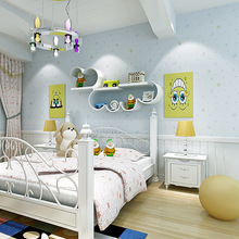 Bright and fresh Star Moon cute Children series Wallpaper Fabric Non-woven Boy Room Girl Bedroom baby Cartoon Princess wallpaper цена 2017