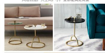 Round Corner Table | Nordic Small Round Table Tea Table Metal Creative Edge A Few Contracted Corners A Few Modern Round Sofa Edge Table Creative.