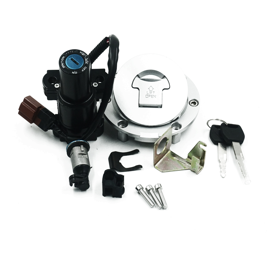 Motorcycle Fuel Gas Cap Tank Cover Ignition Switch Seat Lock Key For  Honda CBR600 03-06