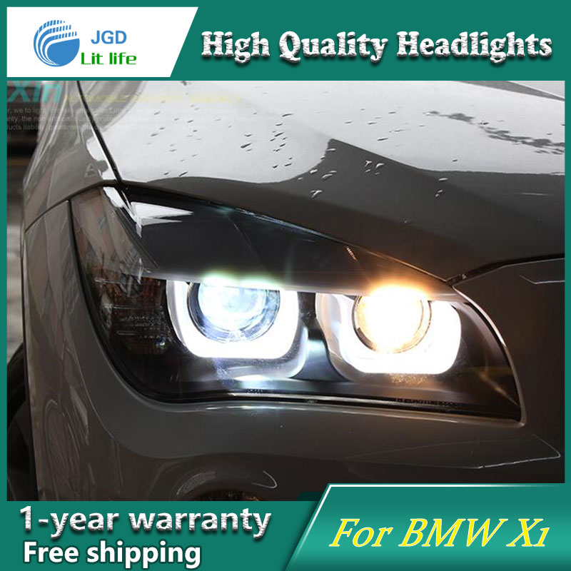 high quality Car Styling Head Lamp case for BMW X1 2013 2014 2015 LED Headlight DRL Daytime Running Light Bi-Xenon HID