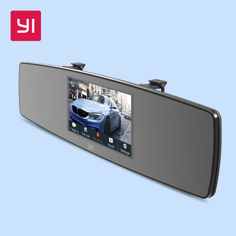 YI Rearview Mirror Dash Cam Touch Screen Front Rear View HD Auto Video Car Wifi DVR Camera Recorder G Sensor Night Vision цена