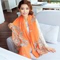 New Fashion Women Soft Voile Print Long Scarves Shawls Wraps Pashmina 160*70cm 90002
