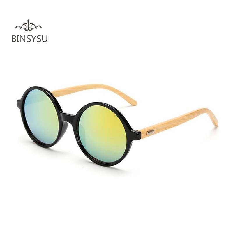 2018 New Fashion Products Men Women Sun Glasses Round Bamboo - Apparel Accessories