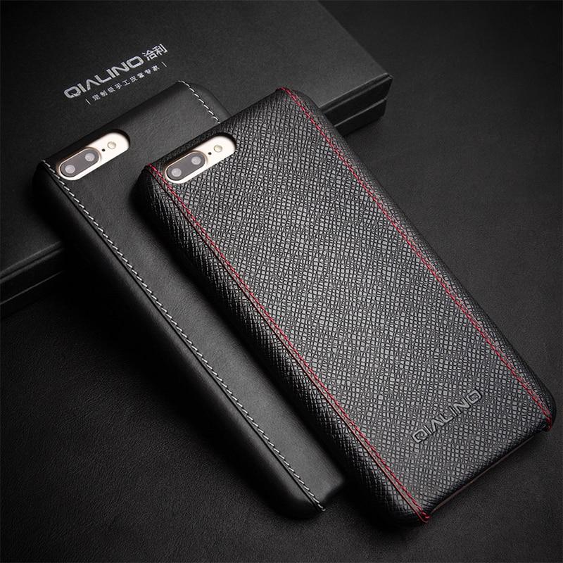 Θήκη QIALINO για iphone 8 plus πολυτελές μόσχο - Ανταλλακτικά και αξεσουάρ κινητών τηλεφώνων - Φωτογραφία 2