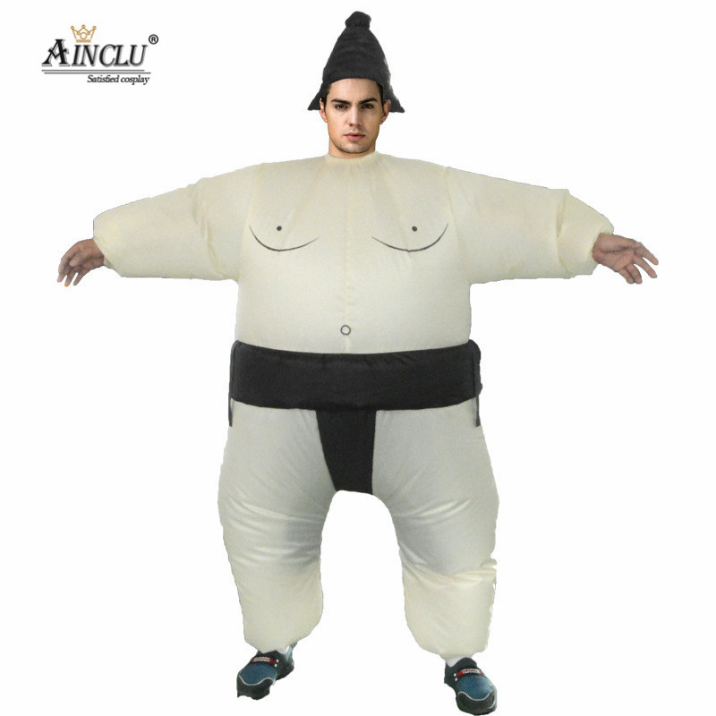 Ainclu Halloween Costume Adult inflatable Sumo Costumes Carnival Christmas Cosplay Party Dress UP Costume for Adults Men Women