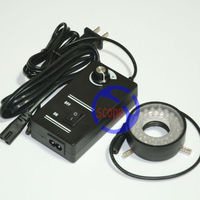 NEW 48 LED Ring Light Illuminator Microscope Lamp With Adjustable Brightness Factory Direct Sale Adapter
