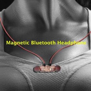 Image 2 - DUSZAKE L16 מגנטי אלחוטי Bluetooth אוזניות עבור טלפון בס אוזניות אלחוטי Bluetooth אוזניות לxiaomi טלפון ריצה