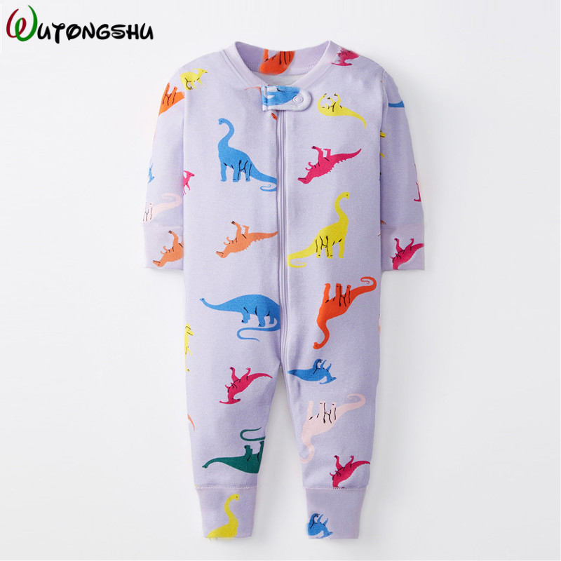 Autumn Baby Rompers Girls Long Sleeve Animal Dinosaur Infant Jumpsuits Casual Outfit Newborn Baby Clothes For Boys Ropa Bebe