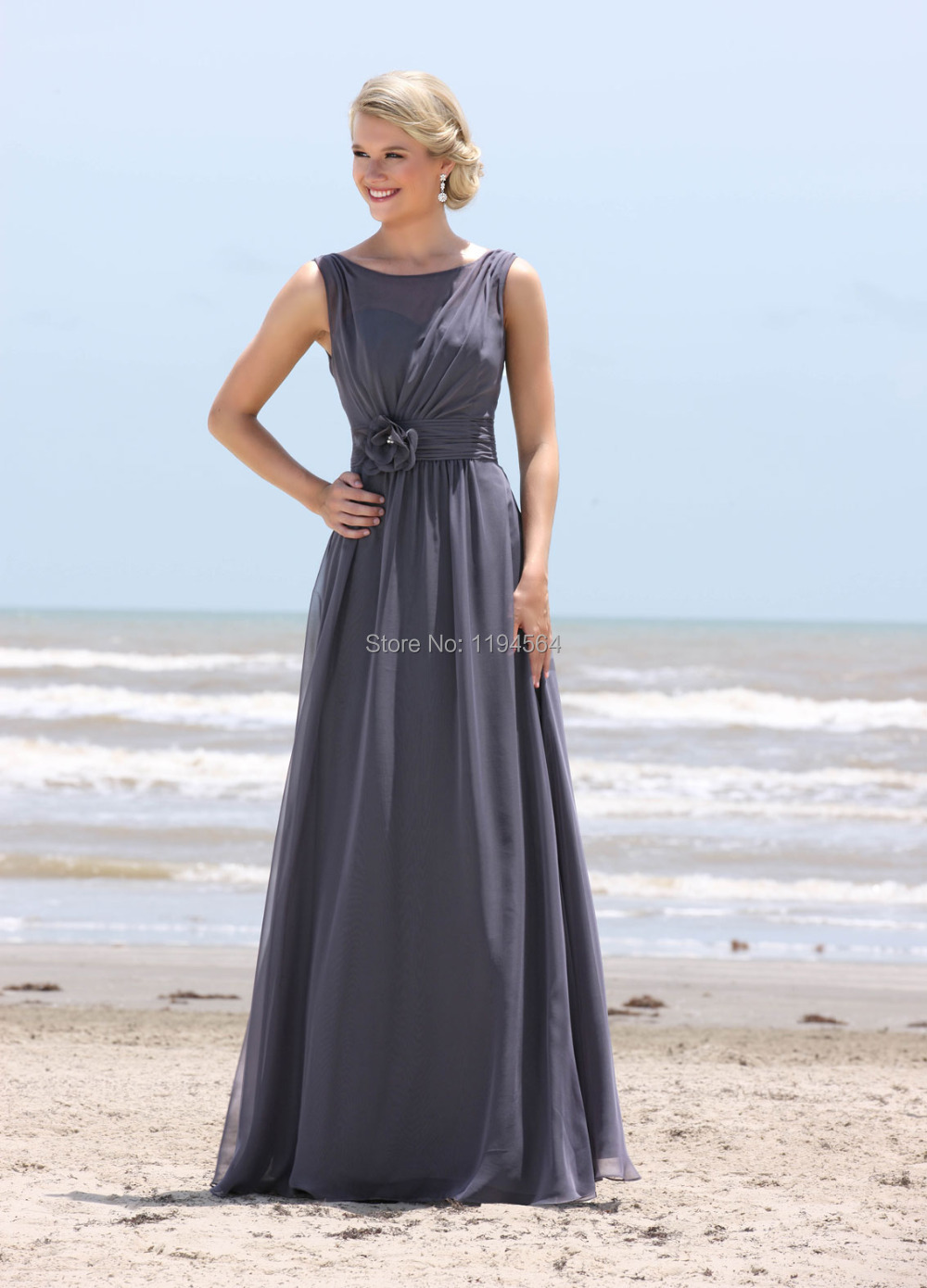 Popular Grey Chiffon Bridesmaid Dresses-Buy Cheap Grey Chiffon ...