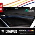 Puerta del coche ajuste de la decoración, etiqueta Interior para Mazda 6 2014, mazda 3 2014, cx-5, 4 colores. 4 unids/lote, envío libre