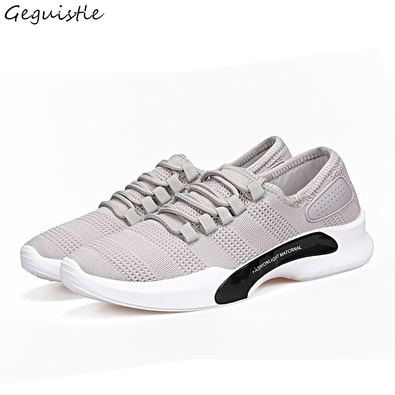 New Arrivals Men Mesh Shoes Fashionable Casual Shoes Breathable Canvas Lace-Up Trendy Shoes