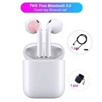 CASPTM Mini i12 TWS Bluetooth 5.0 True Wireless Earphone Sports Earbuds Touch Earphones Magnetic Charging Box
