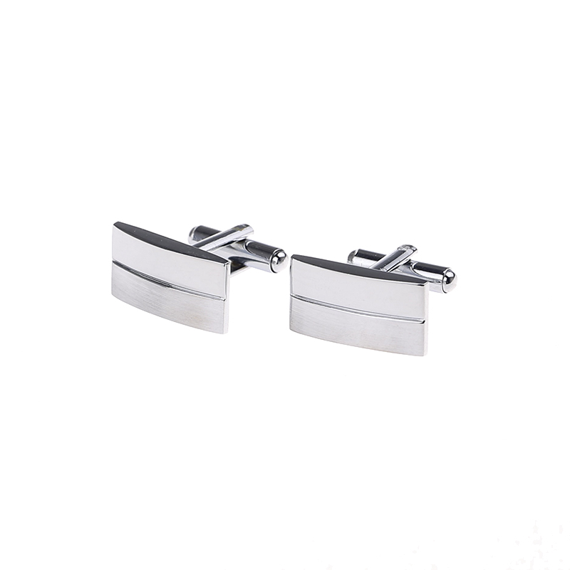 Free Shipping Men Metal Necktie Tie Bar Clasp Clip Cufflinks Sets Silver Simple Cuff link And Tie Pin Party Gift QiQiWu CT 1001 in Tie Clips Cufflinks from Jewelry Accessories