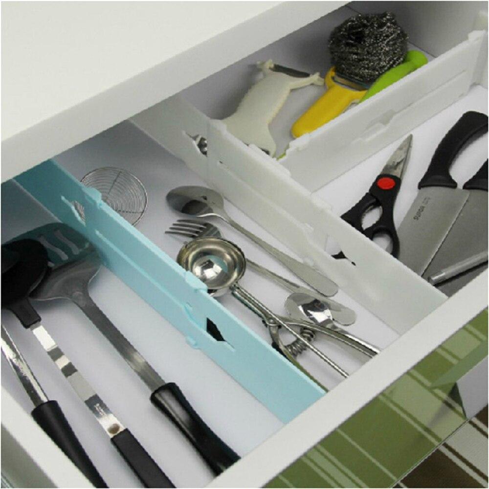 R tractable r glable extensible en plastique s parateur de for Separateur de tiroir de cuisine reglable