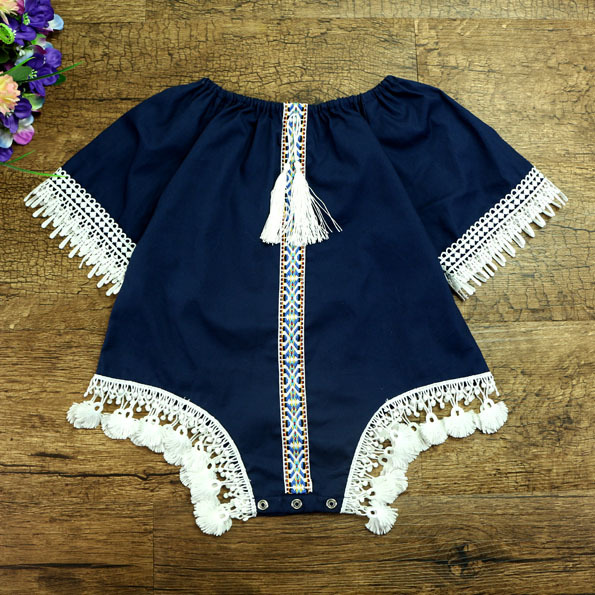 2017 new Baby girls romper bodysuit kids rompers for toddler romps Vintage Romper playsuit baby summer clothes