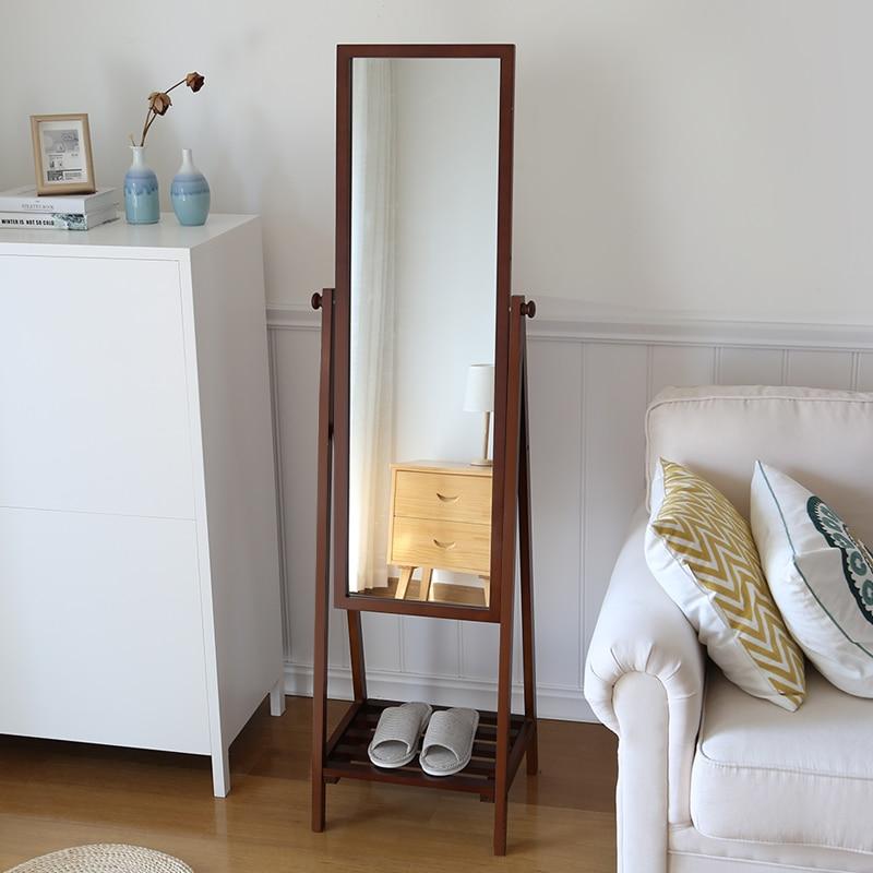 creative storage mirror simple floor storage body dressing mirror solid wood mirror in. Black Bedroom Furniture Sets. Home Design Ideas