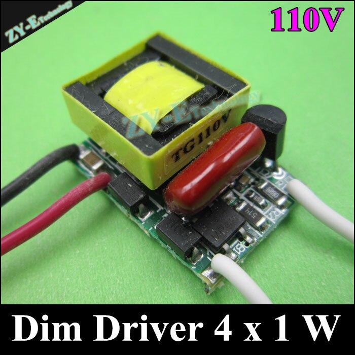 20 pcs/lot ,4 W Dimming driver,LED Dim lighting transformer,4W,4X1W lamp Dim Inside driver 110V input,LED lamp bulb freeshipping