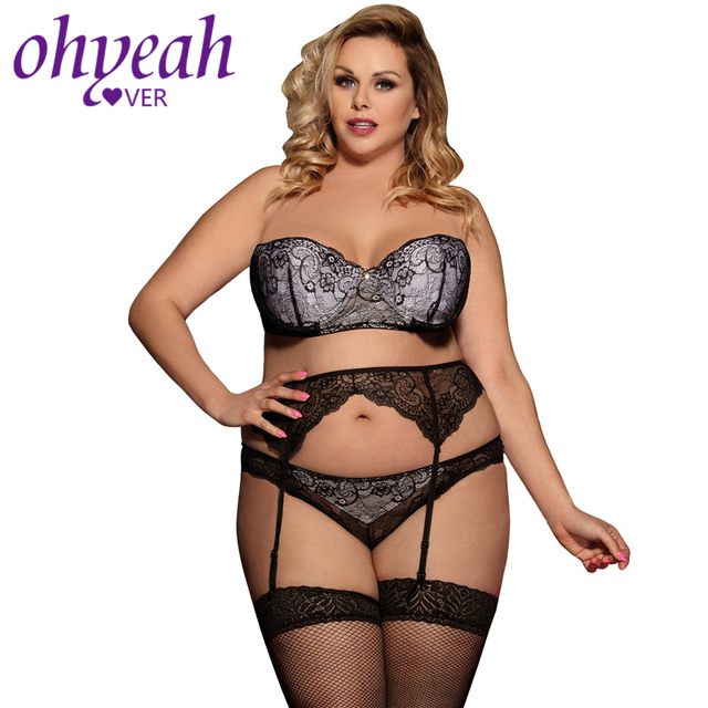 2eb612ec51dd9 Ohyeahlover Bra Women Set Lingerie Sexy Femme Female Branded Underwear  RM80457 Lady Seductive Black 3 Piece