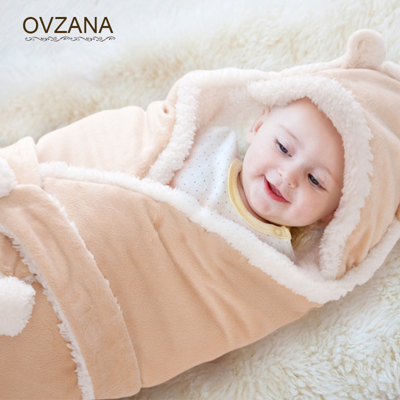 Autumn Winter Baby Swaddle Wrap Thicken Warm Cashmere Baby