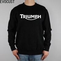 Logo Triumph men Sweatshirts Thick Combed Cotton