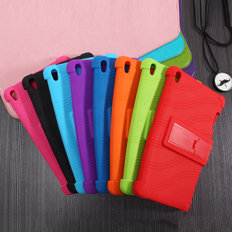 High Quality Soft Silicone Rubber Case Stand Function Skin Cover For Lenovo P8 (Tab 3 8 Plus) TB-8703 TB-8703F TB-8703N Tablet colorful style tab3 8 plus p8 soft silicon cases stand cover for lenovo tab 3 8 plus tb 8703 tb 8703f tb 8703n with stand holder