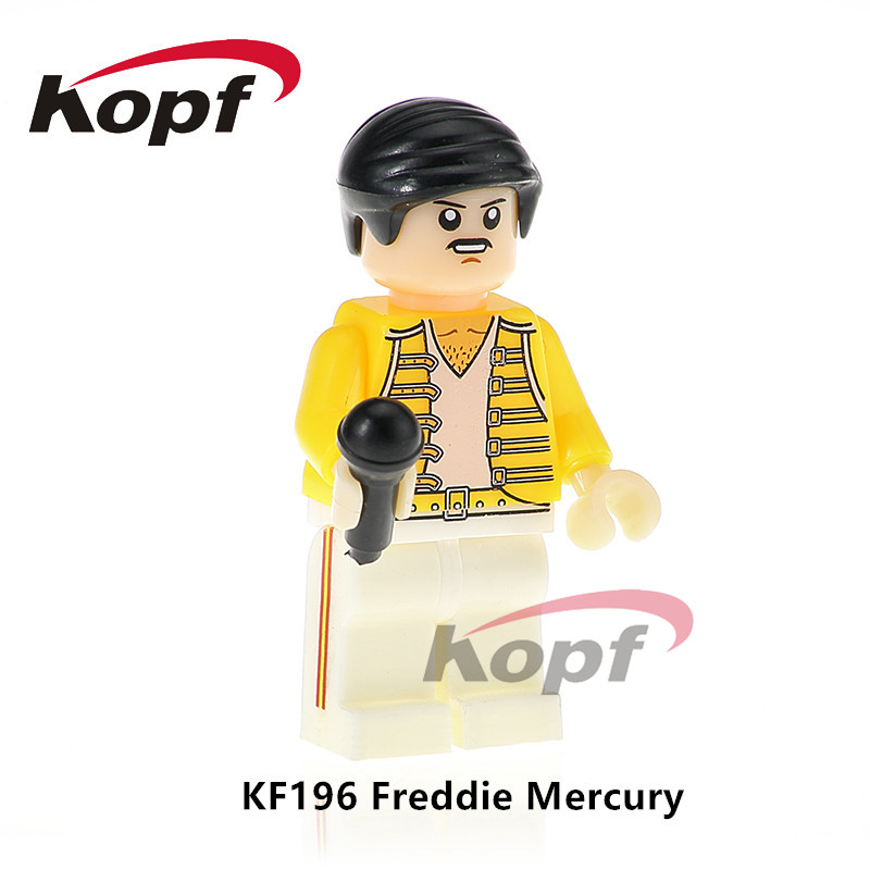 KF196 Super Heroes Freddie Mercury Lead Famous Singer Queen Building Blocks Bricks Figures Collection For Children Gift Toys