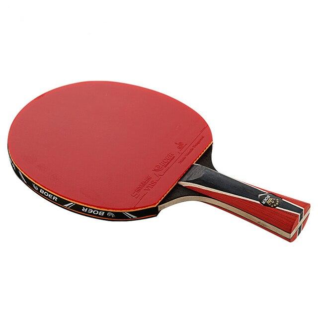 1 X Настольный теннис с двойным лицом Спортивная ракетка для настольного тенниса резиновое Оригинальное углеродное волокно ракетка для пин...