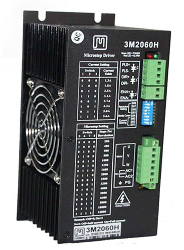 3M2060H 3phase NEMA34 NEMA42 NEMA52 stepper motor driver controller amplifier AC80-220V 1.3-5.6A 2dm2280 2phase stepper motor driver ac80 240v 8a suitable for nema 34 42 51 step motor