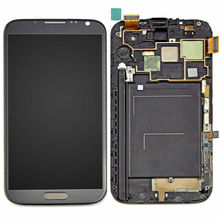 цена на For Note 2 LCD for Samsung Galaxy Note 2 II i317 N7100 LCD Display Touch Screen Digitizer Assembly Replacement Parts with Frame
