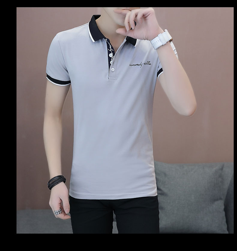 Short-sleeved T-shirt men's fashion casual cotton clothes decorated with multi-color optional 97