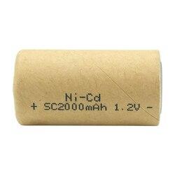 SC 2000mAh Nicd Ni-Cd 1.2V Rechargeable Battery Cell For DIY Power Tools ni cd Batteries Flashlight headlamp solar lights Toys