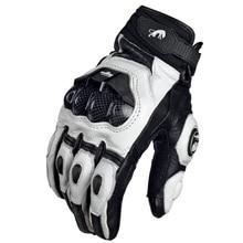 ถุงมือรถจักรยานยนต์สีดำRacingของแท้หนังมอเตอร์ไซด์สีขาวRoad Racingทีมถุงมือผู้ชายฤดูร้อนฤดูหนาว
