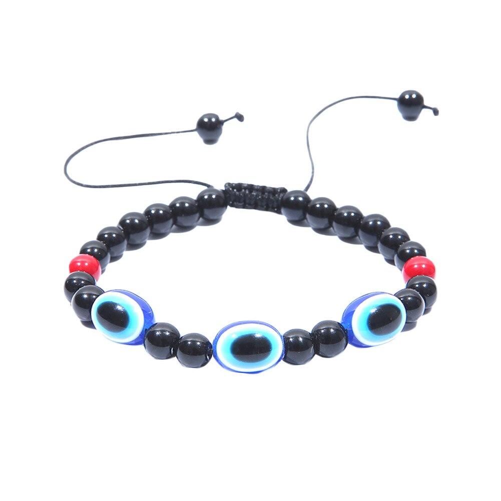 New Fashion Simple Evil Eye hand religious charm blue beads Lucky bracelet Best Match Turkish bracelet for women men Gift