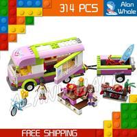 314 pz Bela 10168 nuove Ragazze Amici Avventura Camper Olivia Nicole Mattoni Da Costruzione Blocchi Giocattolo Compatibile Con Lego