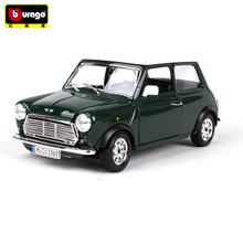 Bburago 1:24 1969 mini simulation alloy car model crafts decoration collection toy tools gift